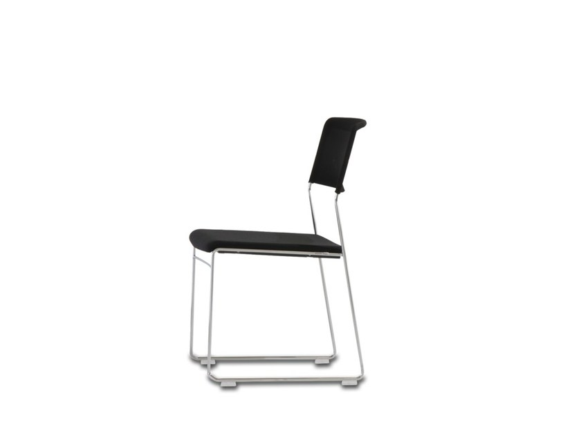 Sled base stackable fabric training chair with armrests OUTLINE   Training chair by Wiesner-Hager