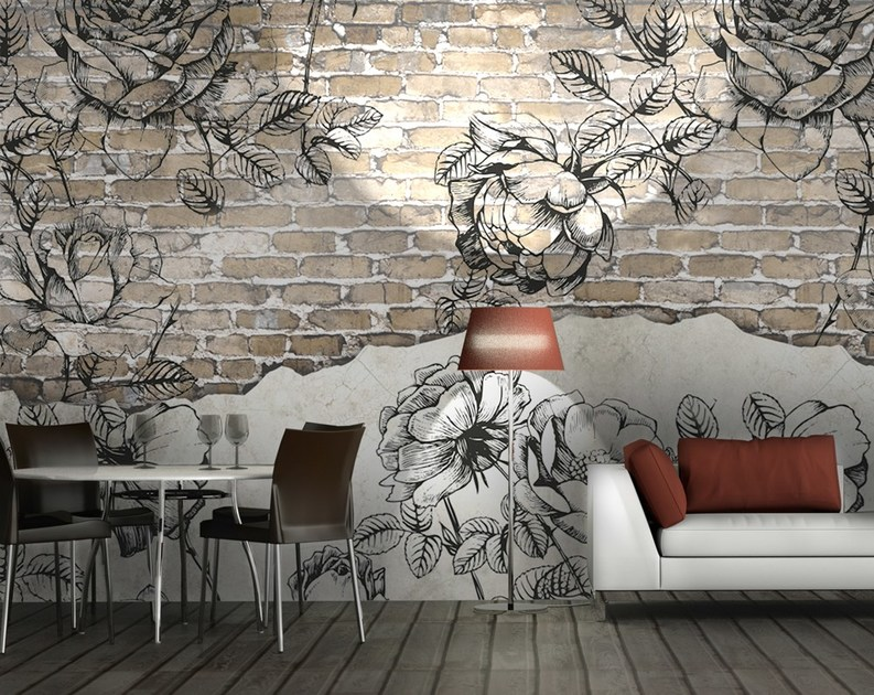 Nonwoven wallpaper OUTSIDE by MyCollection.it