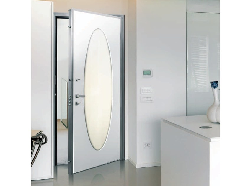 Armoured door panel OVAL by Alias Security Doors
