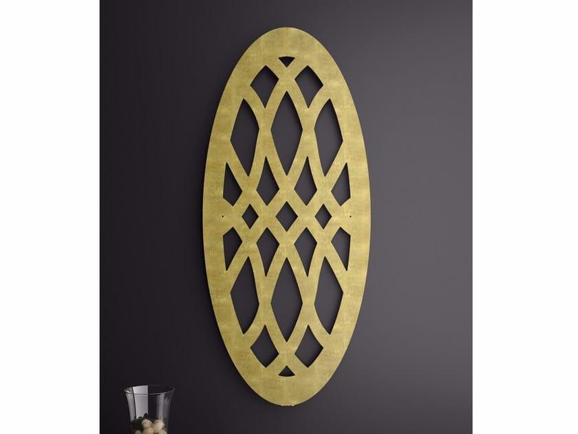 Wall-mounted panel radiator OVAL by BLEU PROVENCE