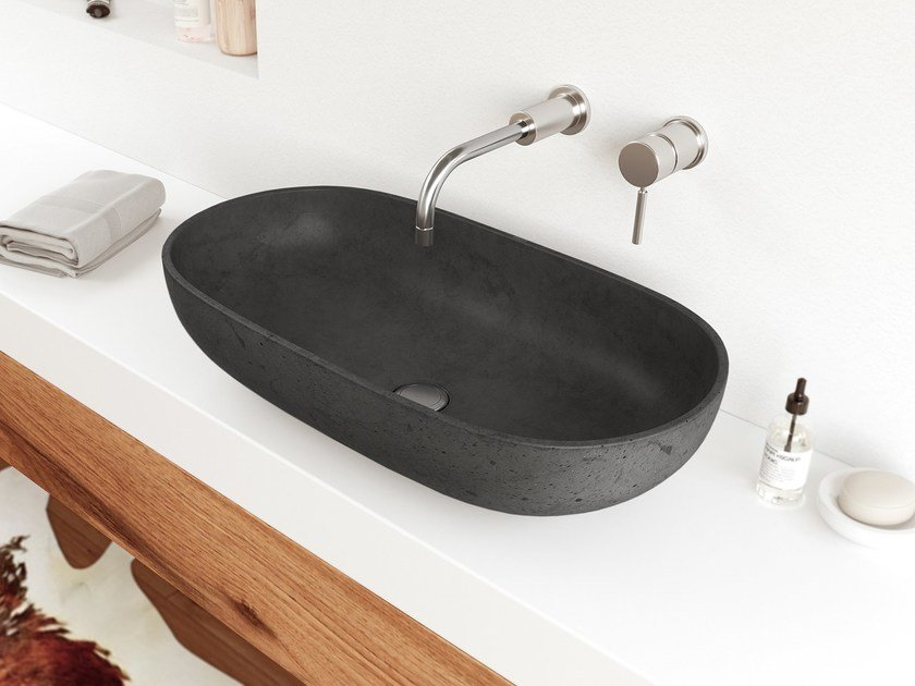 Countertop oval washbasin OVAL by Gravelli