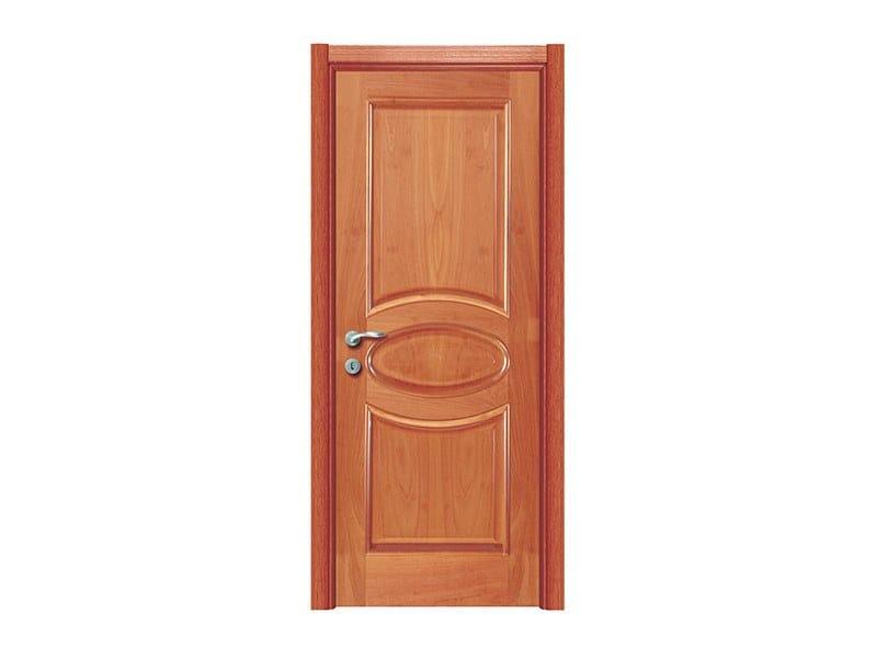 Hinged wood veneer door OVALE by NUSCO