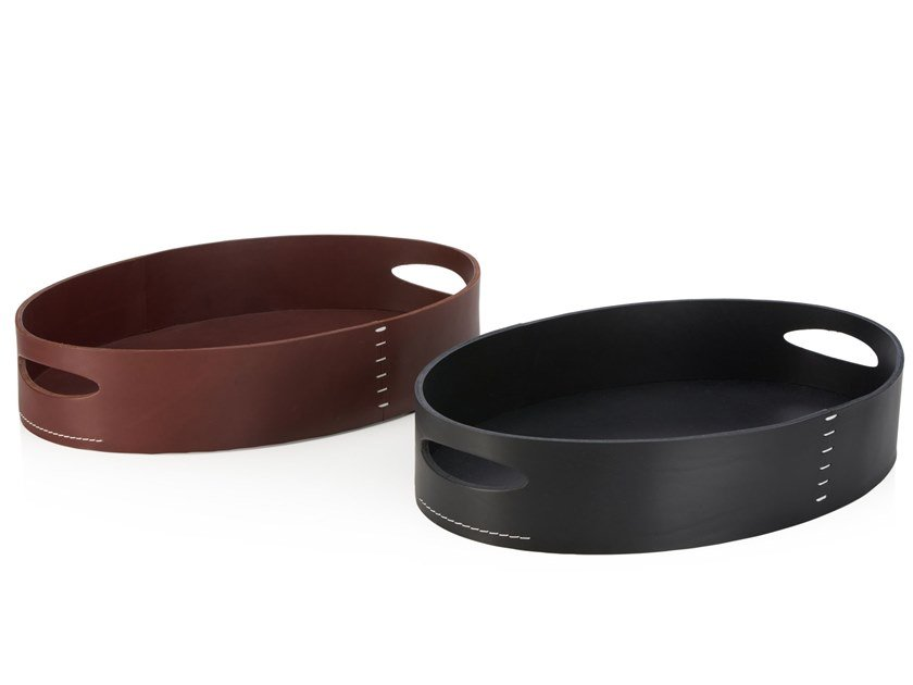 OVALI | Tanned leather tray