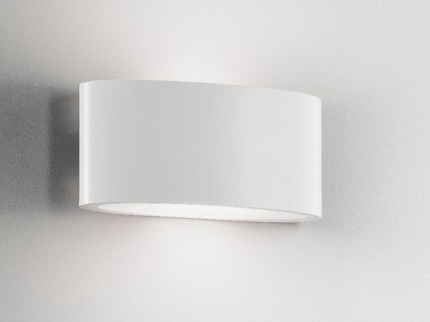 Lampada da parete a LED in alluminio pressofuso AILATI - OVALINO GRIGIO SCURO by Archiproducts.com