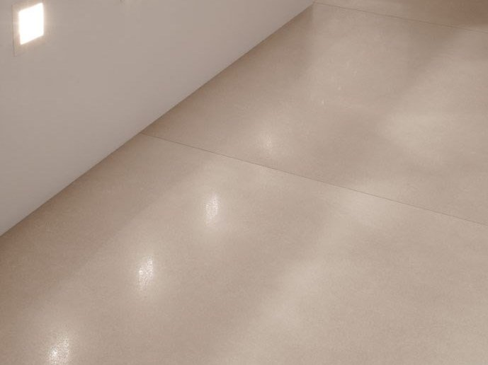 Wall/floor tiles with concrete effect OVER - OPENSPACE by COTTO D'ESTE