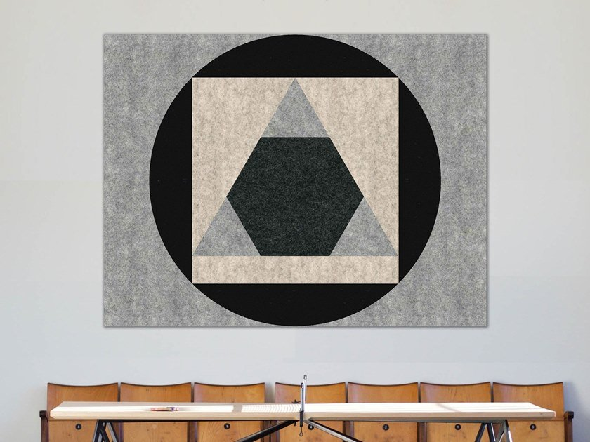 Decorative acoustic panel OVERLAPPING by Slalom