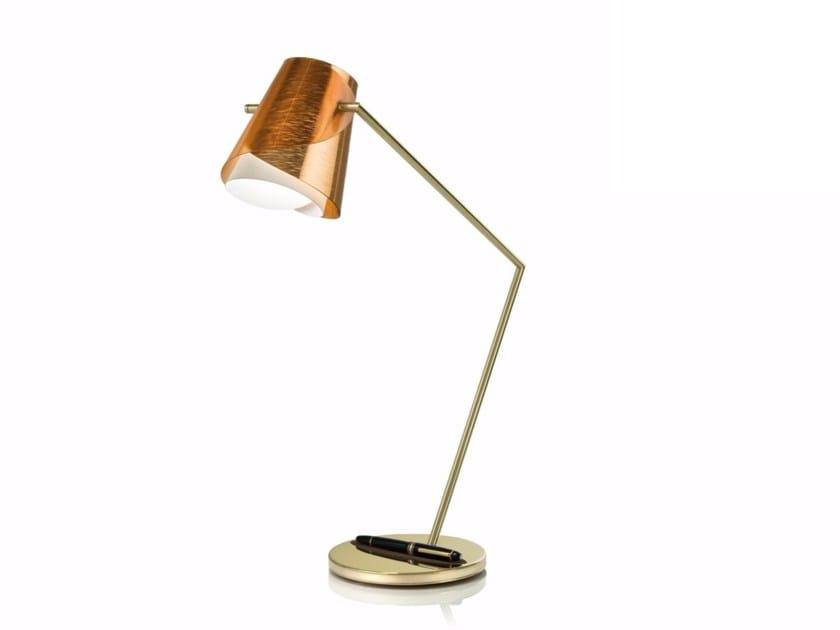 Direct light Copperflex desk lamp OVERLAY by Slamp