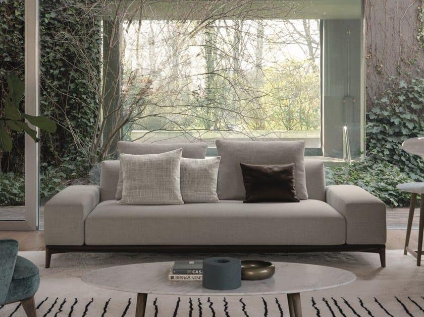 Divano componibile in tessuto con chaise longue OVERPLAN | Divano by Désirée divani