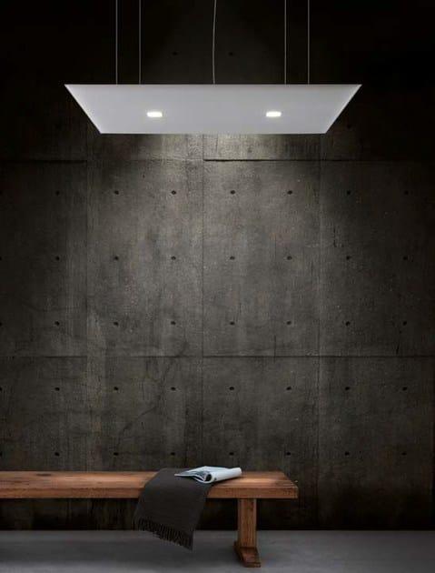Akustikpaneel für Decken aus Stoff mit integrierter Beleuchtung ...