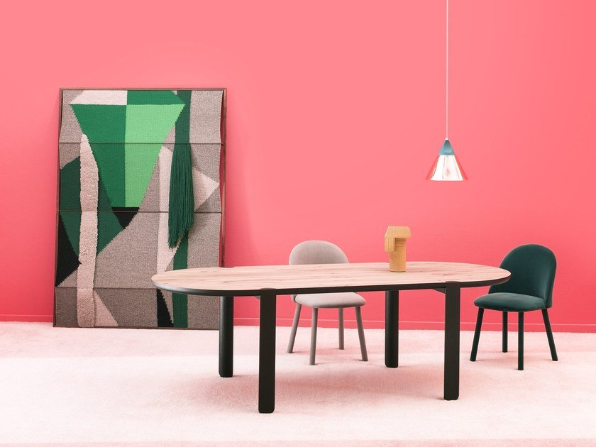 Contemporary style oval dining table OVO by Miniforms