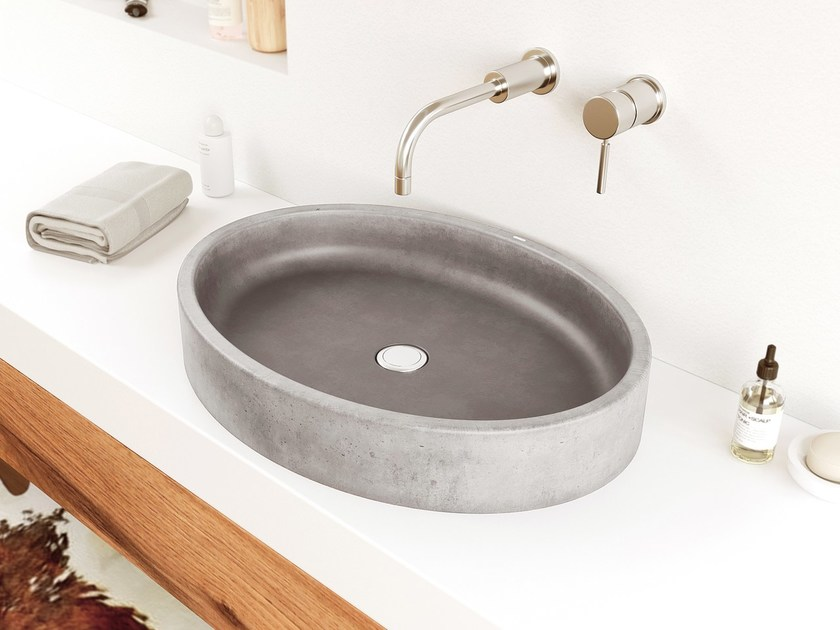 Concrete washbasin OVUM by Gravelli