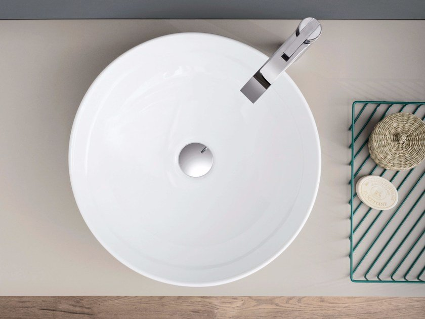Countertop round ceramic washbasin OVVIO BACINELLA by Nic Design