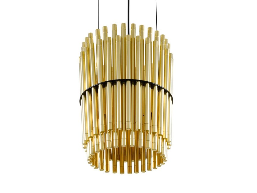 Handmade brass pendant lamp OXFORD CHANDELIER by Mullan Lighting