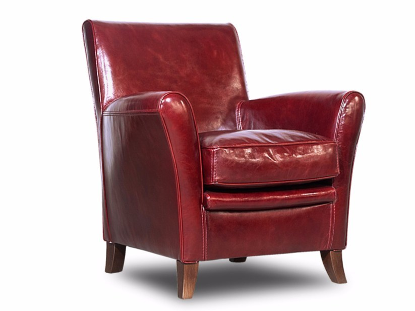 Leather armchair with armrests OXFORDINE by BAXTER