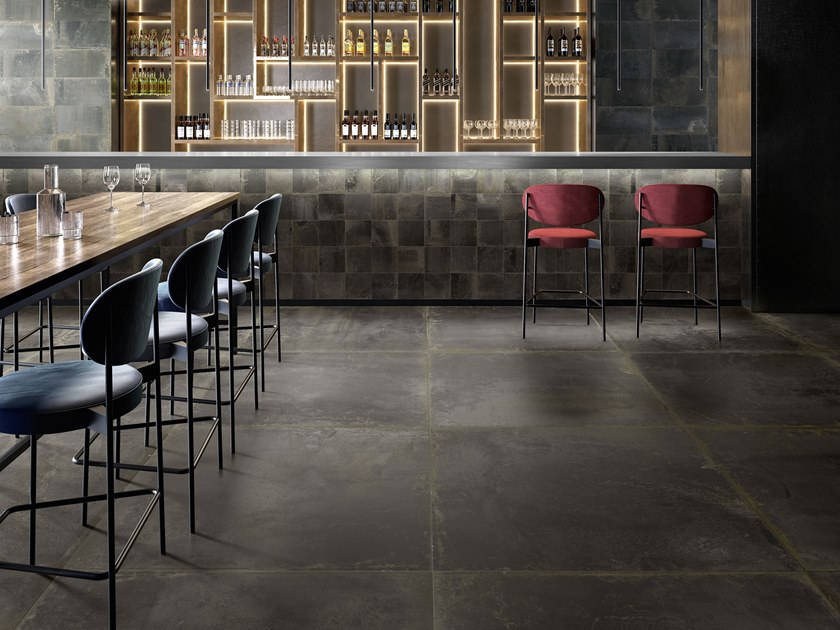 Porcelain stoneware wall/floor tiles OXIDART BLACK by CERAMICA SANT'AGOSTINO