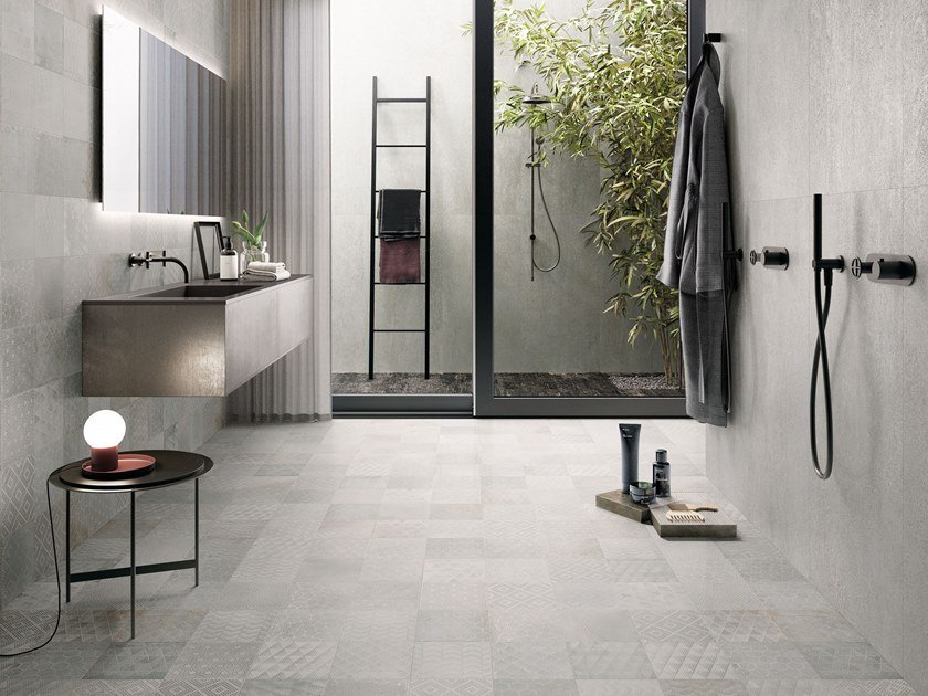 Porcelain stoneware wall/floor tiles OXIDART SILVER by CERAMICA SANT'AGOSTINO