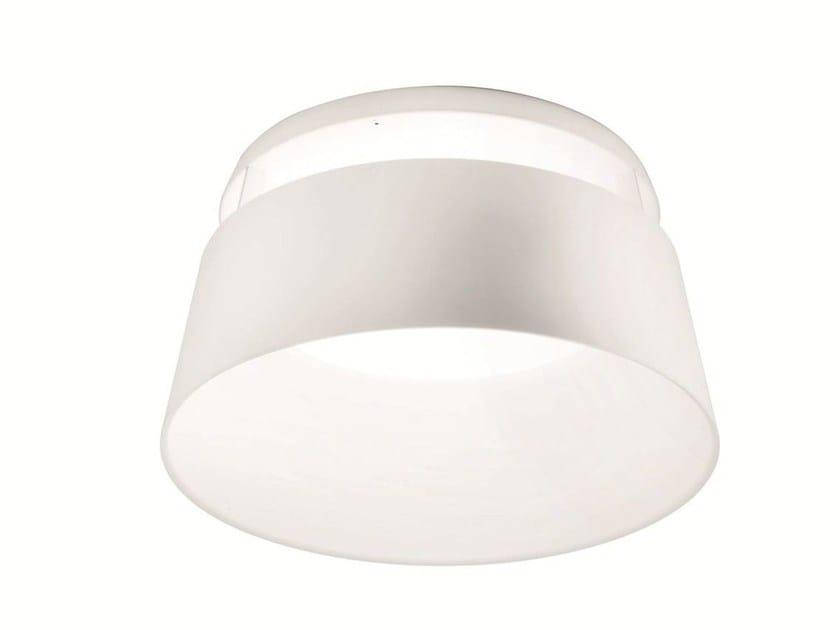 LED direct light polyurethane ceiling light OXYGEN_S by Linea Light Group