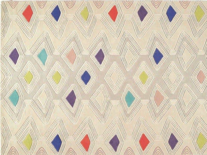 Patterned rectangular wool rug OYO by Toulemonde Bochart
