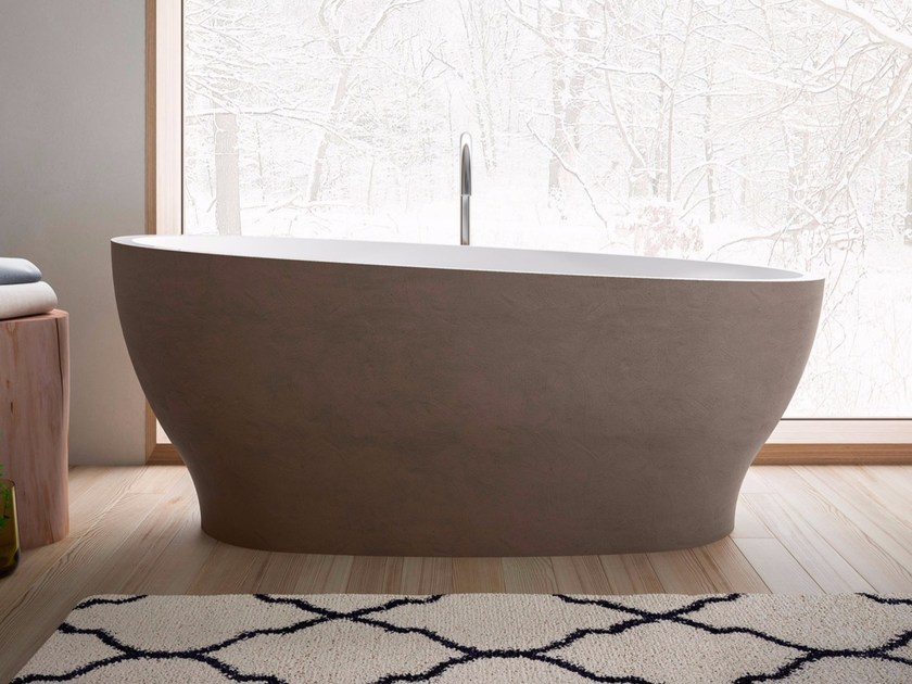 Freestanding oval bathtub OYSTER by Glass1989