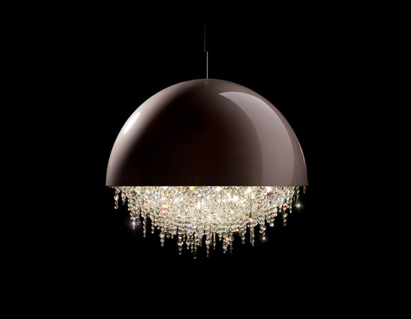 Halogen crystal pendant lamp OZERO | Crystal pendant lamp by Manooi
