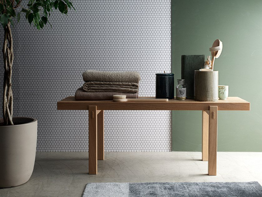 Oak Bathroom bench Oak Bathroom bench by Arcom