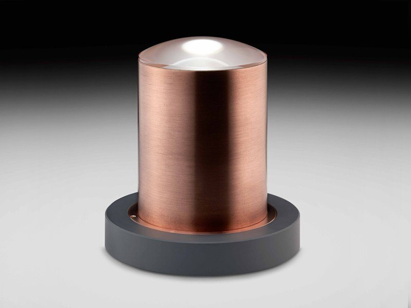 LED Anodized aluminium bollard light OAK by PURALUCE