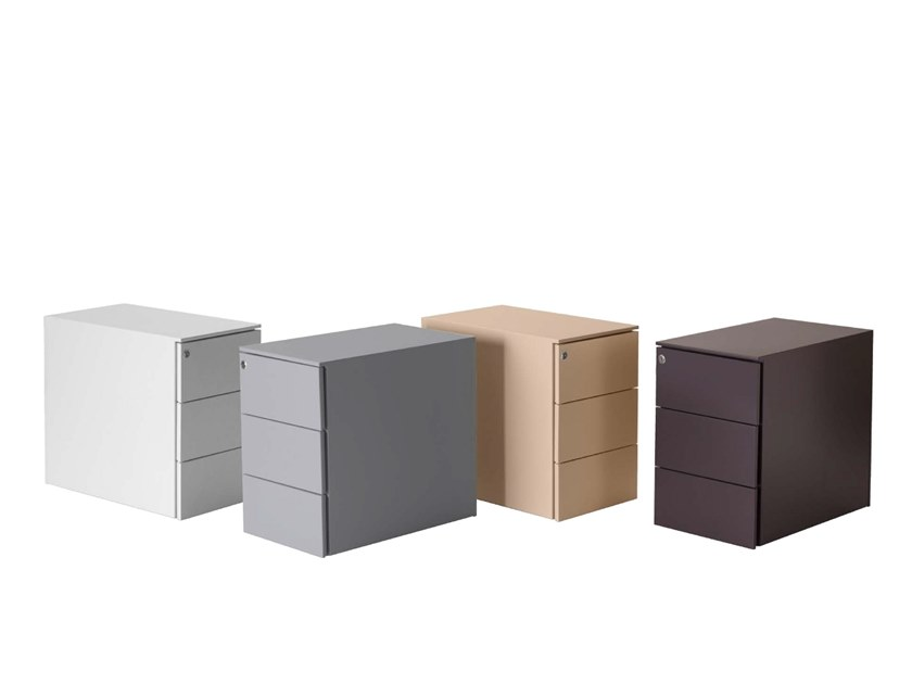 Metal office drawer unit with casters Office drawer unit by Quinti Sedute