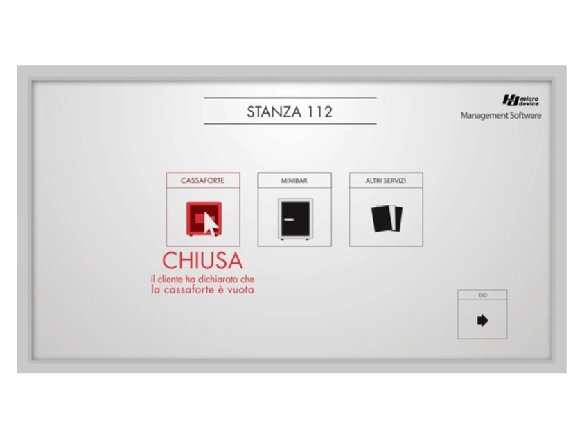 Building automation system for hotel On line safe and security system by MICRODEVICE