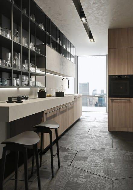 opera cuisine lin aire collection sistema by snaidero design michele marcon. Black Bedroom Furniture Sets. Home Design Ideas