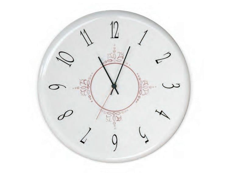 Wall-mounted ceramic clock Wall-mounted clock by Aldo Bernardi