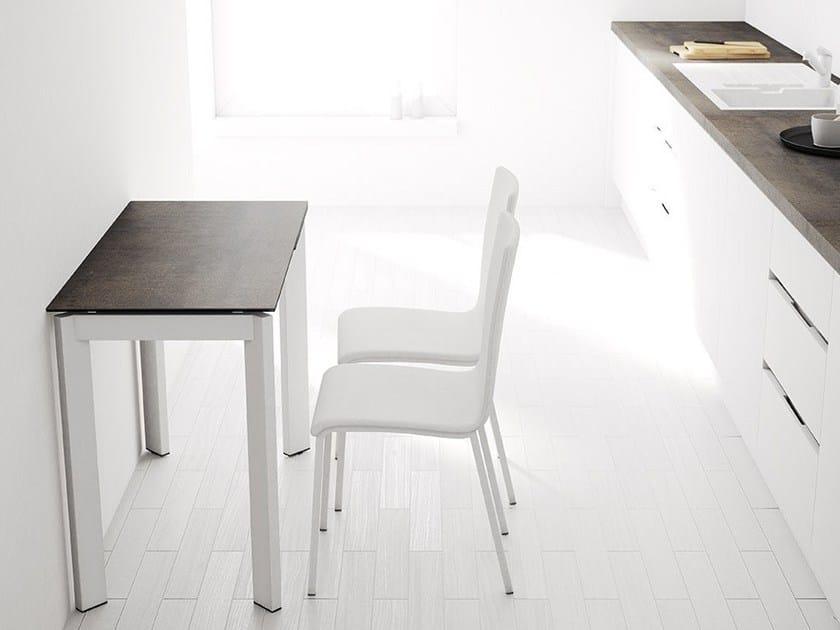 Mesa extensible de cocina rectangular PÓKER By CANCIO