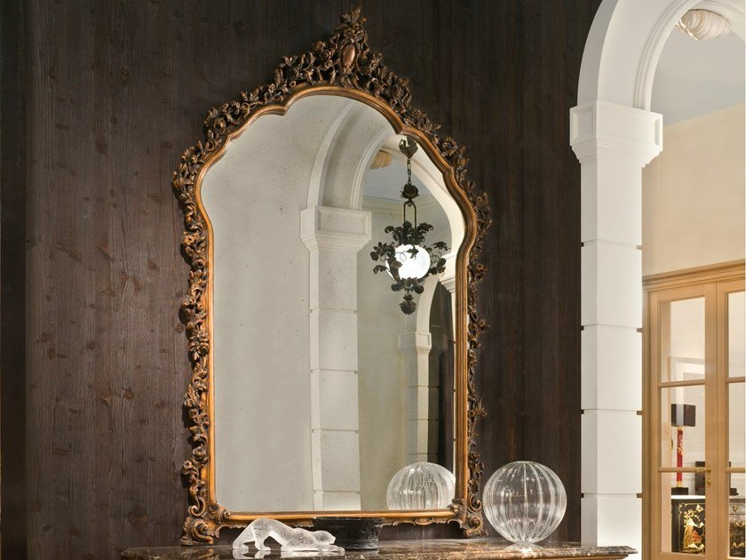 Wall-mounted framed mirror P 4029 | Mirror by Annibale Colombo