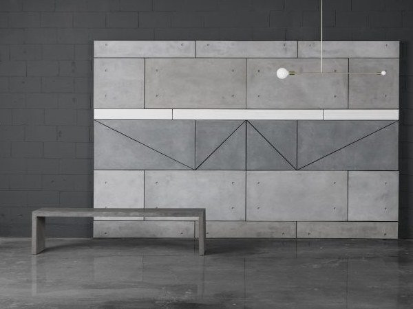 Concrete bench P | Bench by AtelierB