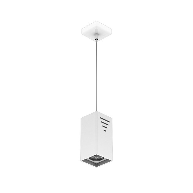 LED steel pendant lamp P MATTONE 3 by NEXO LUCE