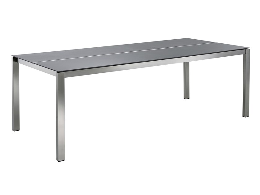 Rectangular ceramic garden table P-SERIES | Rectangular table by solpuri
