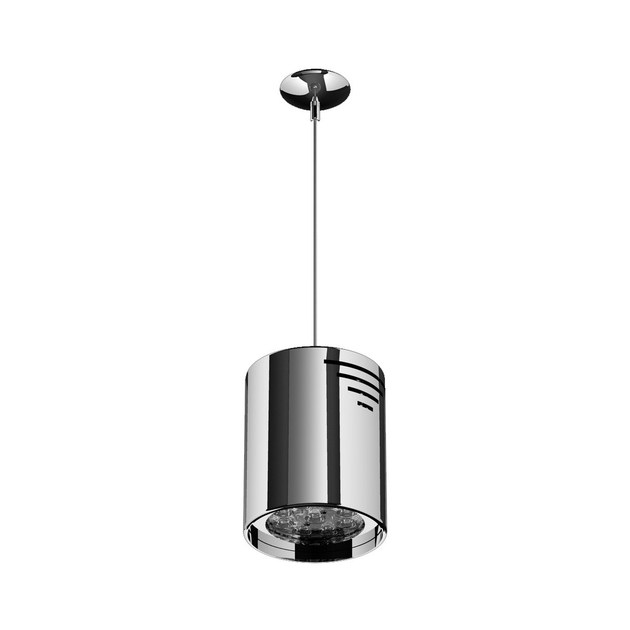 LED steel pendant lamp P TUBO 9 by NEXO LUCE