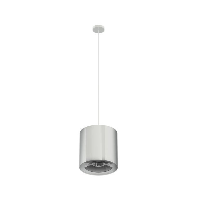 LED direct-indirect light steel pendant lamp P TUBO ARRAY by NEXO LUCE