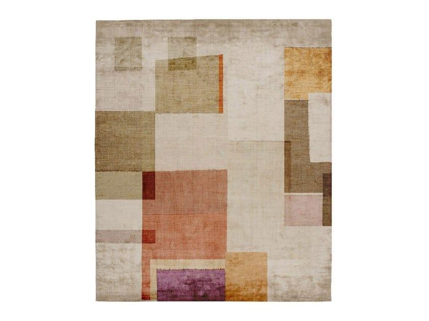 Handmade rectangular silk rug P108 BOTANIC (KARMA EDIT) by HENZEL STUDIO