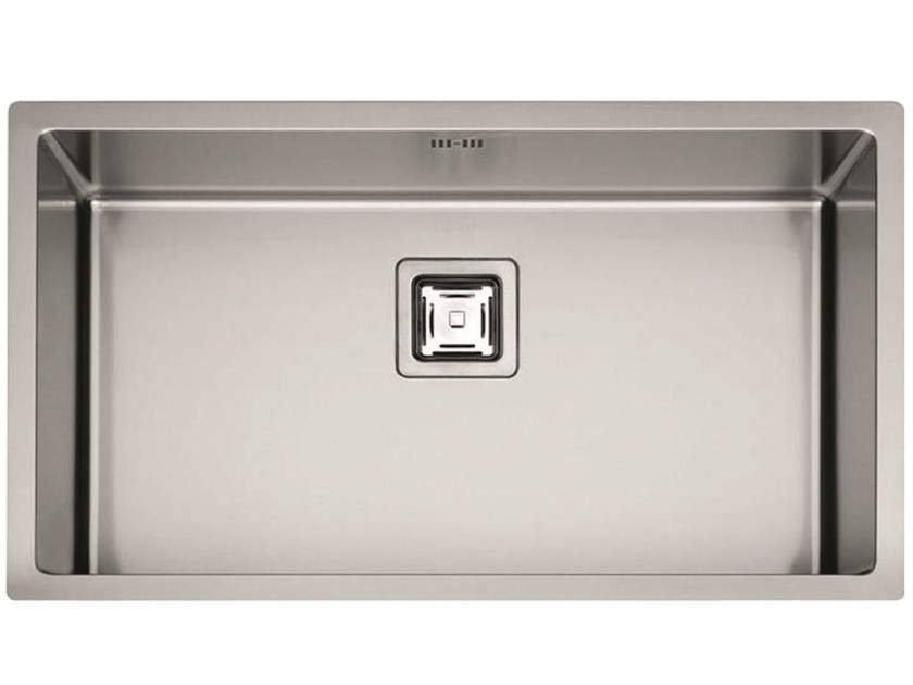 Single stainless steel sink P1B 8545 Q F-SF | Sink by Fulgor Milano