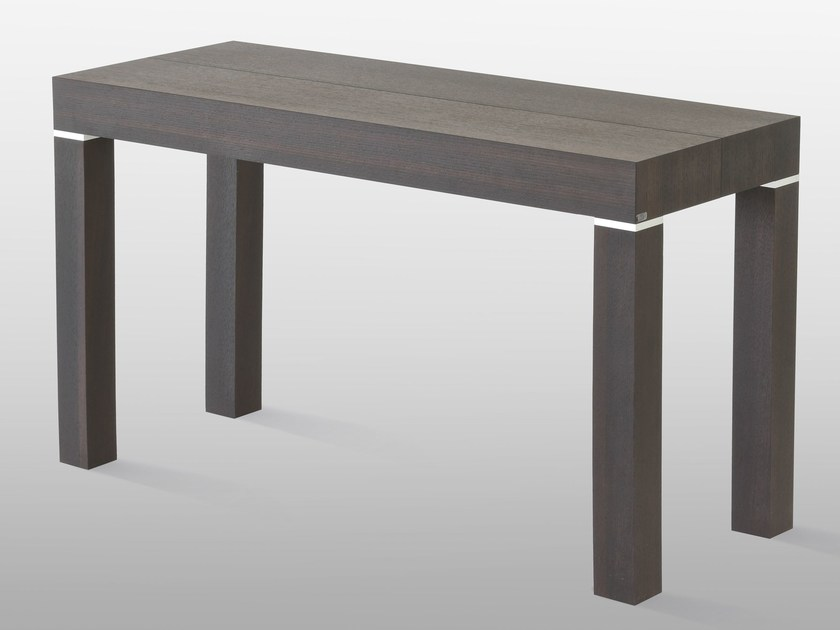 Extending rectangular wooden console table P300 By RIFLESSI
