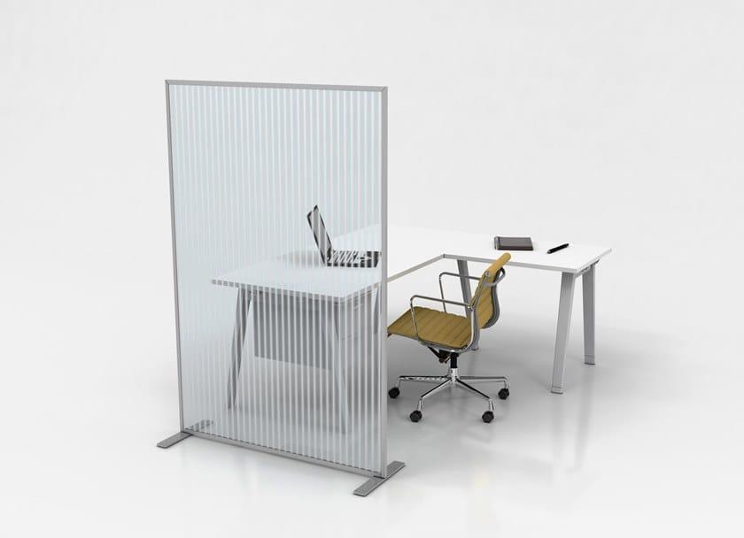 Pannello divisorio per ufficio in policarbonato PA16 by STUDIO T