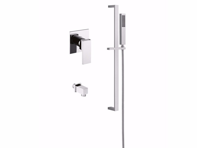 Single handle shower mixer with hand shower PABLOLUX - F9815WSQ by Rubinetteria Giulini