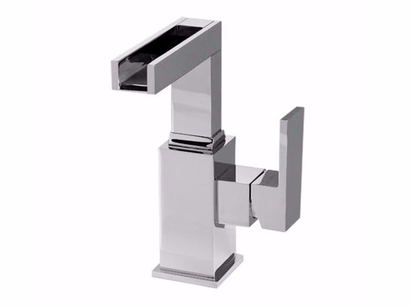 Countertop single handle washbasin mixer PABLOLUX - F9827A-B1 by Rubinetteria Giulini