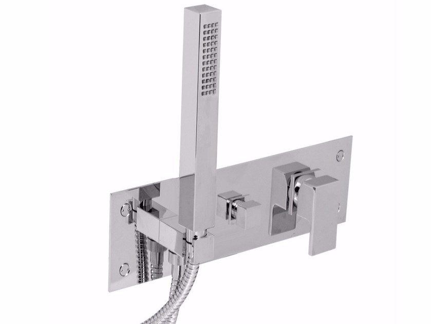 Single handle shower mixer with hand shower PABLOLUX - F9869 by Rubinetteria Giulini