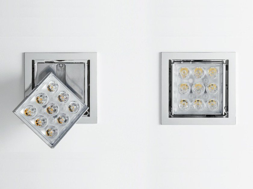 LED Ceiling adjustable aluminium PAD 80 by Artemide