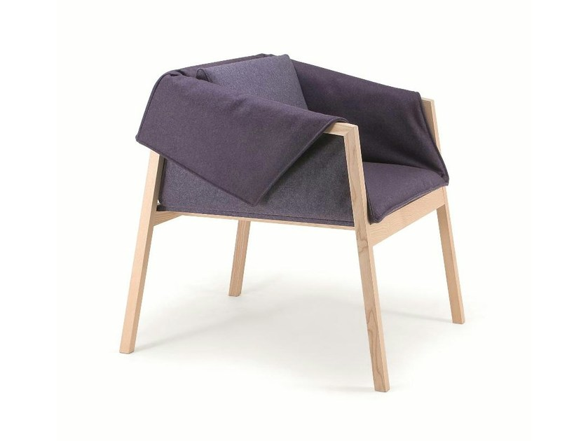 Fabric easy chair with armrests PAD   Easy chair by Cizeta