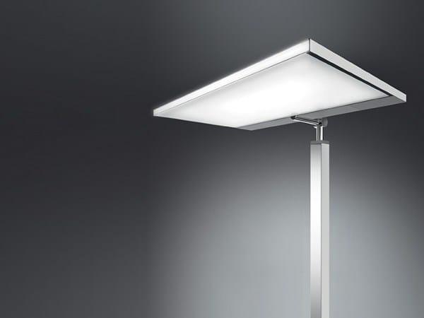 Direct-indirect light aluminium floor lamp PAD | Floor lamp by Artemide