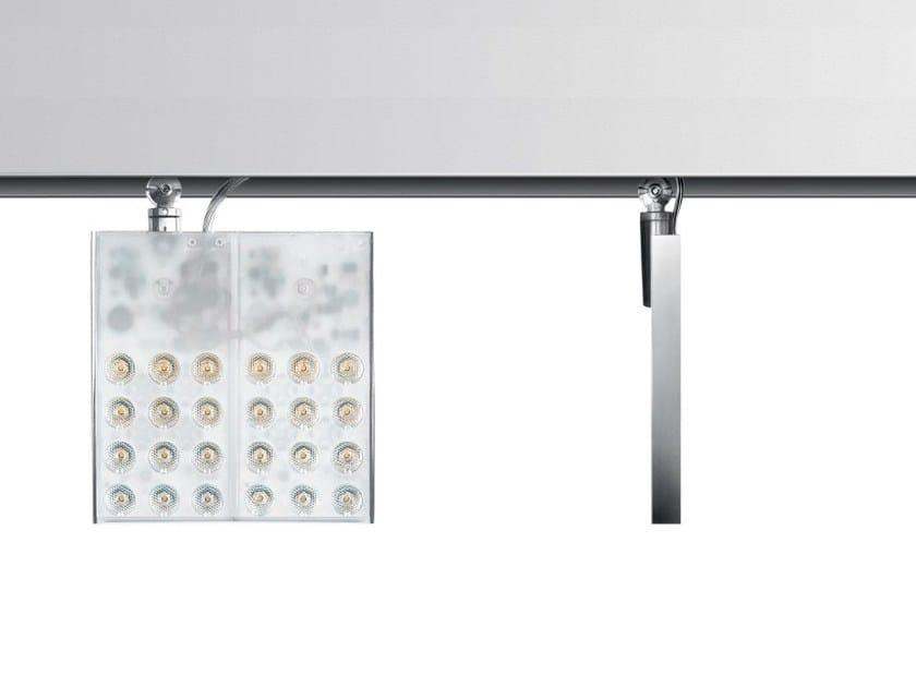LED extruded aluminium Track-Light PAD SQUARE by Artemide