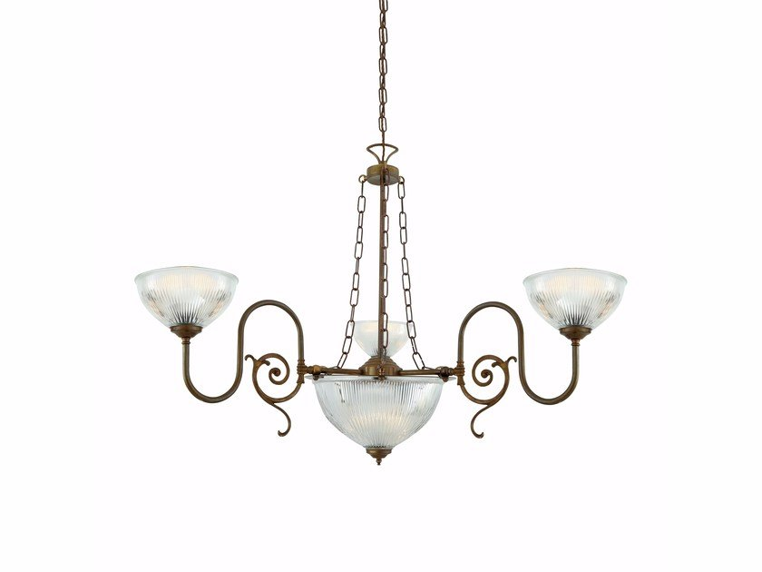 Brass chandelier PADANG by Mullan Lighting