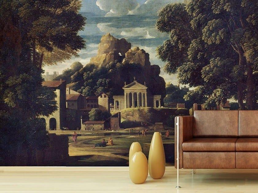 Contemporary style landscape paper wallpaper PAESAGGIO CON LA MOGLIE DI FOCIONE by Wallpepper